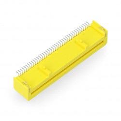 Gniazdo żeńskie 40-pin kątowe dla BBC micro:bit - żółte