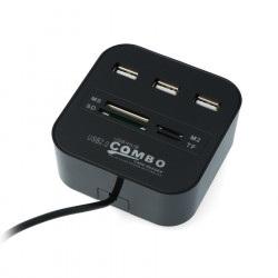 HUB USB 2.0 AK219 3-portowy...