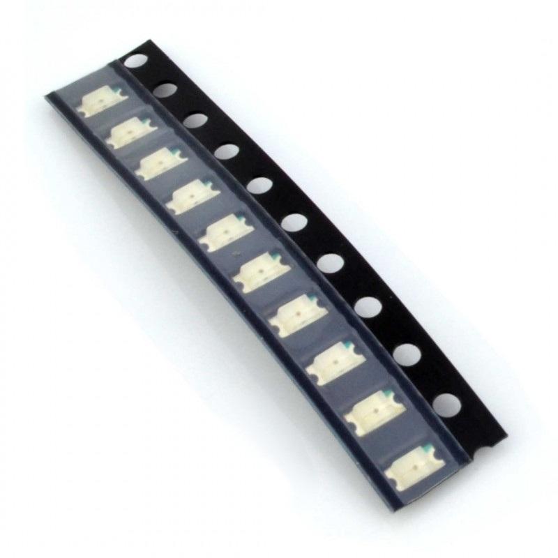 Dioda LED smd 1206  czerwona - 10 szt.