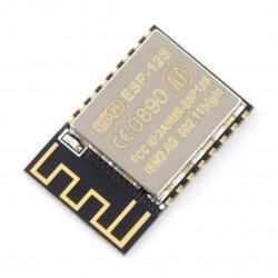 Moduł WiFi ESP12S ESP8266 Black - 9 GPIO, ADC, PCB antena