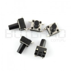 Tact Switch 6x6, 9.5mm THT...