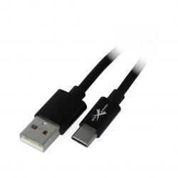 Przewód eXtreme USB 2.0 Typ-C silikonowy czarny - 1,5m