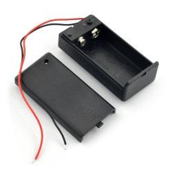Koszyk na baterię 9V (6F22) z pokrywą i włącznikiem