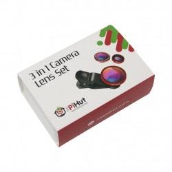 PiHut Lens Set 3 in 1 - zestaw obiektywów do kamer PiHut