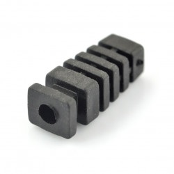 Odgiętka na przewód czarna fi 4mm