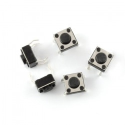 Tact Switch 6x6mm / 4,3mm THT - 5pcs