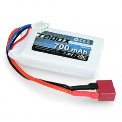 Pakiet LiPol Redox 700 mAh 20C 7.4V