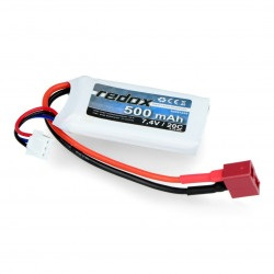 Pakiet LiPol Redox 500 mAh 20C 7.4V