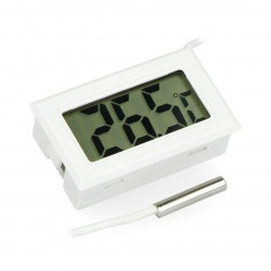 Ttermometr panelowy z wyświetlaczem LCD od - 50 °C do 100 °C