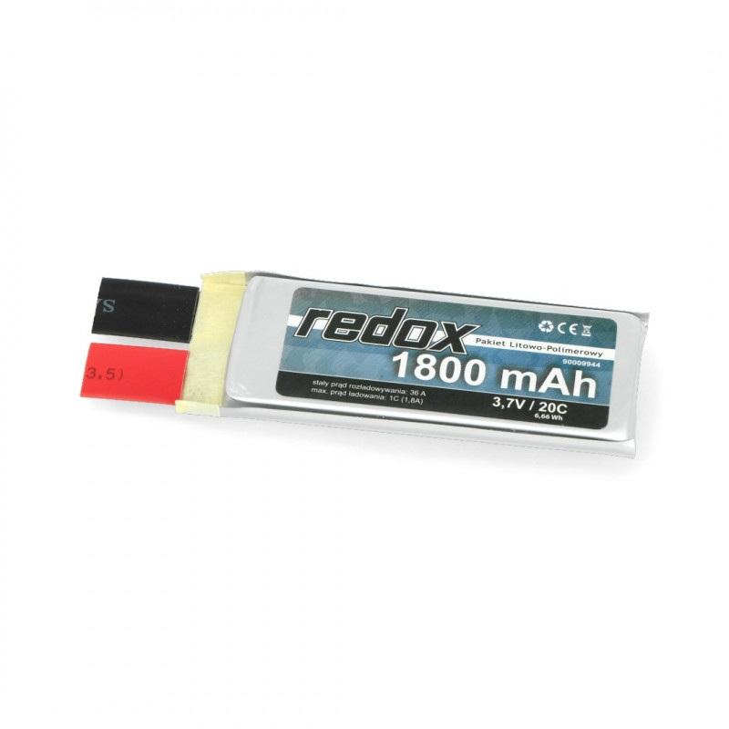Ogniwo LiPol Redox 1800mAh 20C 1S 3.7V