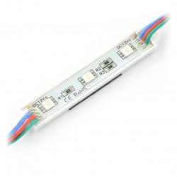 Moduł 3x LED SMD5050 RGB 12V IP65 - 10szt.