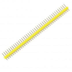 Wtyk goldpin 1x40 prosty raster 2,54 mm - żółty