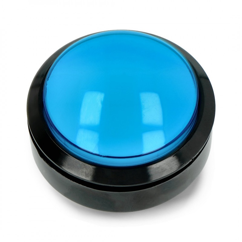 Push Button 6cm - niebieski - płaski