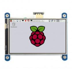 Ekran dotykowy rezystancyjny LCD IPS 4'' (H) 800x480px HDMI + GPIO dla Raspberry Pi 4B/3B+/3B/Zero