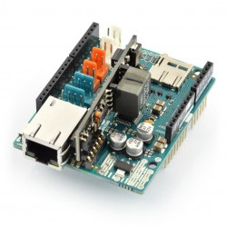Arduino Ethernet Shield 2 z czytnikiem kart microSD + PoE