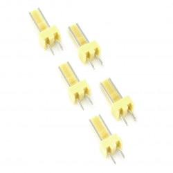 Złącze raster 2,54mm - wtyk 2-pinowy - 5szt.
