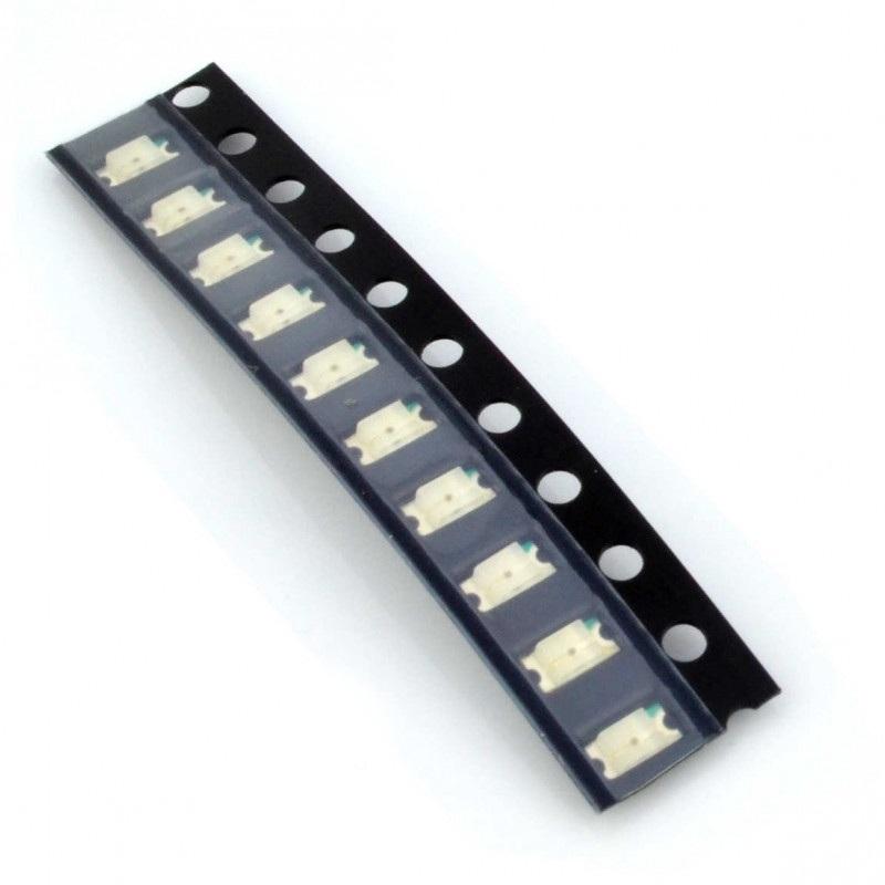 Dioda LED smd 1206  żółta - 10 szt.