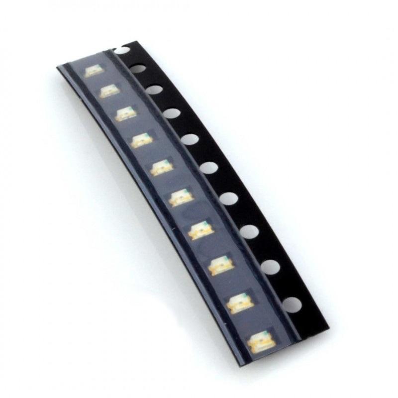 Dioda LED smd 0805 biała - 10 szt.