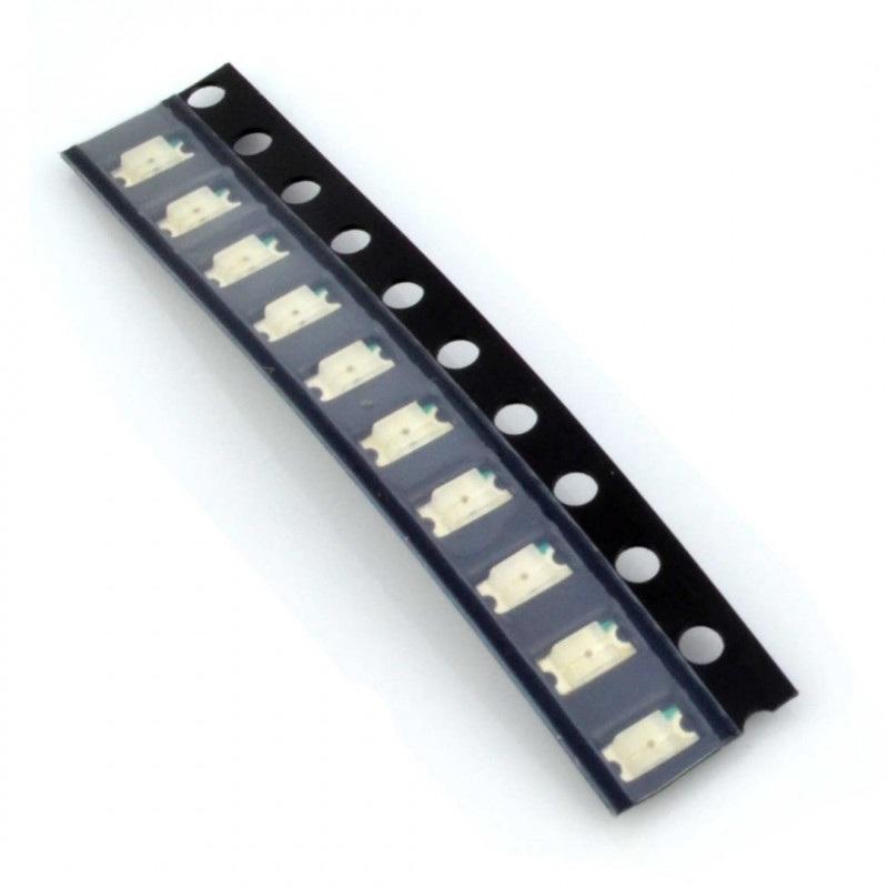 Dioda LED smd 1206  niebieska - 10 szt.