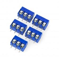 Złącze ARK raster 5mm 3 pin (+)