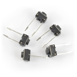 Tact Switch 6x6, 14mm THT 2pin - 5szt.