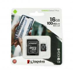 Karta pamięci Kingston Canvas Select Plus microSD HC 16GB 100MB/s + adapter