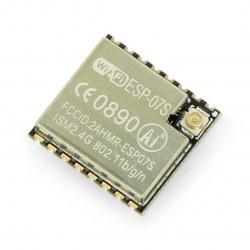 Moduł WiFi ESP-07S ESP8266 - 9 GPIO, ADC, Gniazdo U.Fl