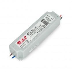 Zasilacz do taśm i pasków LED GLP GPV-50-12 - 12V/4A/48W