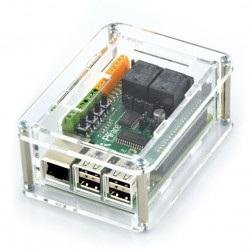 Obudowa Raspberry Pi B+ i moduł PiFace Digital  2 - przezroczysta