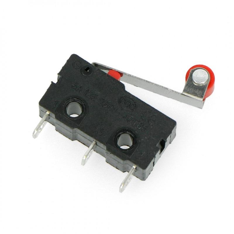 Wyłącznik czujnik krańcowy mini z rolką - WK626