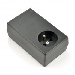 Obudowa plastikowa Kradex Z31 - 120x71x45mm czarna z gniazdem