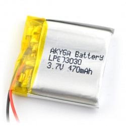 Akumulator Li-Pol Akyga 470mAh 1S 3.7V