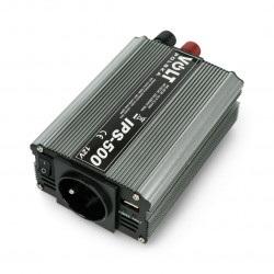 Przetwornica DC/AC step-up 12VDC / 230VAC 350/500W - sinus - Volt IPS-500