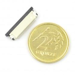 Złącze żeńskie ZIF, FFC/FPC, poziome 28 pin, raster 0,5 mm, dolny kontakt