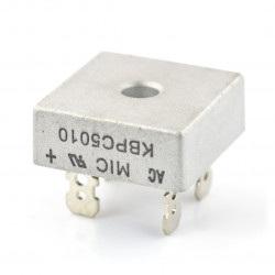 Mostek prostowniczy KBPC5010 - 50A / 1000V z konektorami