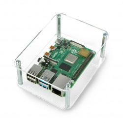 Obudowa do HiFiBerry i Raspberry Pi Model 2B/B+ otwarta przezroczysta
