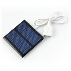 Ogniwo słoneczne 0,6W / 5,5V 65x65x3mm USB