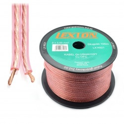 Kabel głośnikowy Lexton 2x2.00 CU OFC - 1m
