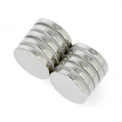 Magnes neodymowy okrągły N35/Ni 20x3mm - 10szt.