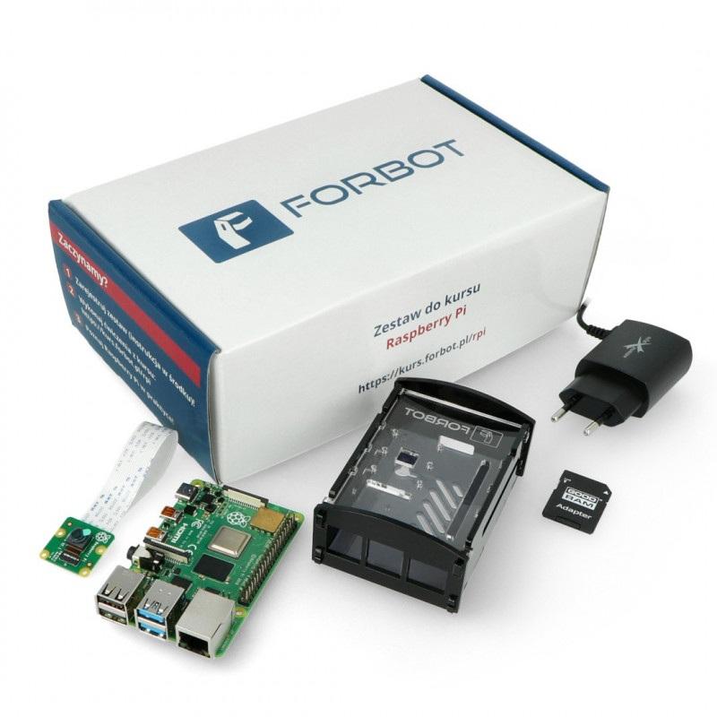 FORBOT - zestaw edukacyjny z Raspberry Pi 4B 4GB + bezpłatny kurs ON-LINE