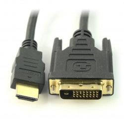 Przewód DVI-D - HDMI - 3m