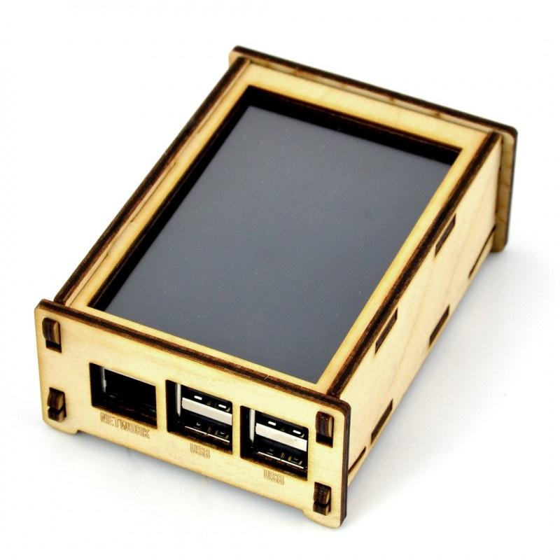 Obudowa do Raspberry Pi 2/3 i ekranu 4'' - drewniana