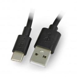 Przewód Goobay USB-C charging and sync cable 0,1m black