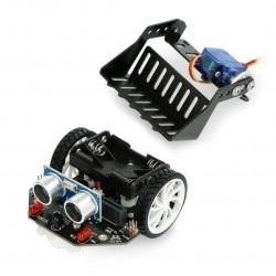 micro:Maqueen z mechaniczną ładowarką - platforma robota dla micro:bit - DFRobot ROB0156-L-1