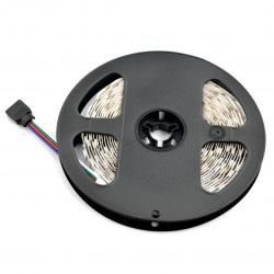 Pasek LED SMD5050 IP44 14,4W, 60 diod/m, 10mm, RGB - 5m