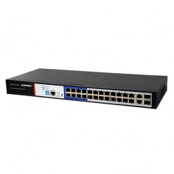 Switch PoE Hored PS3024S 24 porty 100Mbps + 2 porty 1000Mbps