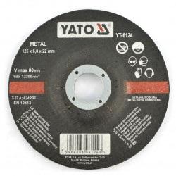 Tarcza do szlifowania metalu Yato YT-6124 - wypukła - 125x6mm