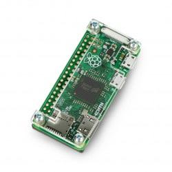 Obudowa Raspberry Pi Zero - Fluo Open - czarno-przezroczysta