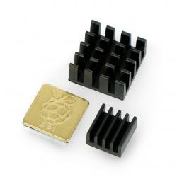 Zestaw radiatorów 3x z taśmą termoprzewodzącą - czarne - grawerowane
