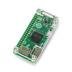 Obudowa Raspberry Pi Zero - Fluo Open - przezroczysta
